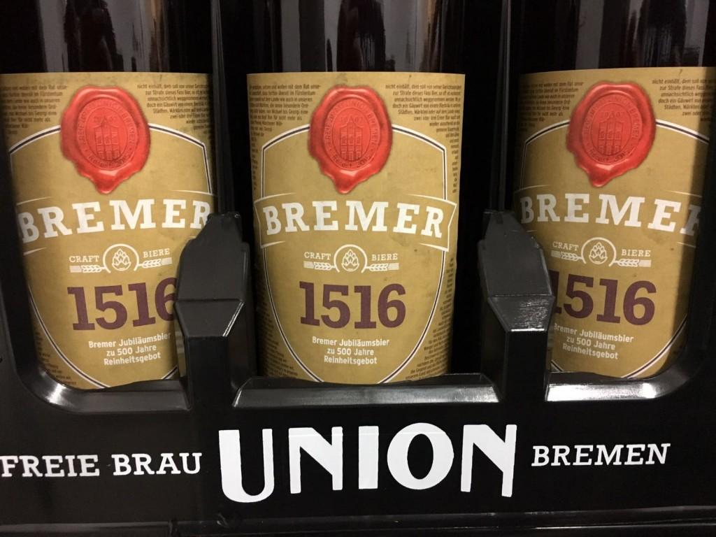 Bremer Jubiläumsbier 1516 Freie Brau Union Bremen