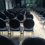 Union Braugarten mit Stuhlreihen